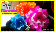 crepe paper flowers fiesta decorations