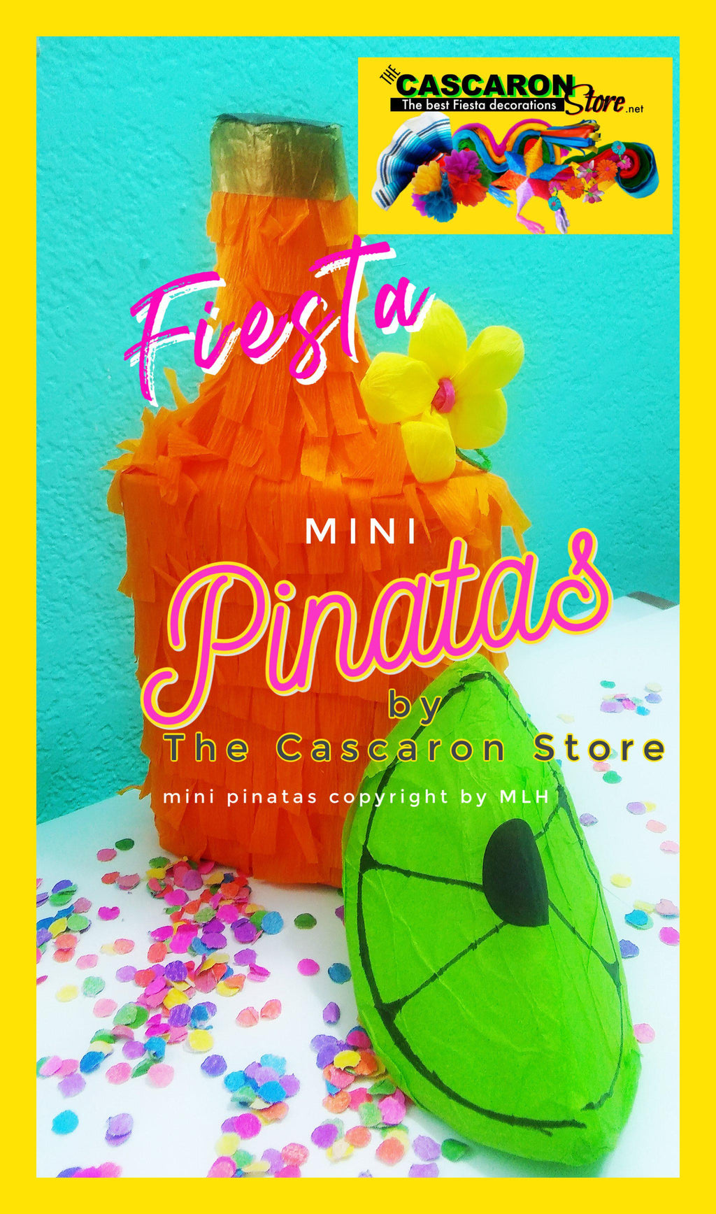 Fiesta Bottle Decoration Mini Pinata Fiesta Bottle Decoration Mini Pinata - Fiesta Arts DesignsMini Pinata