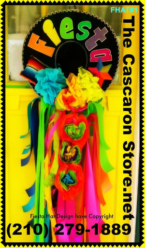 Fiesta Sombrero Hat Door Wreath Decoration