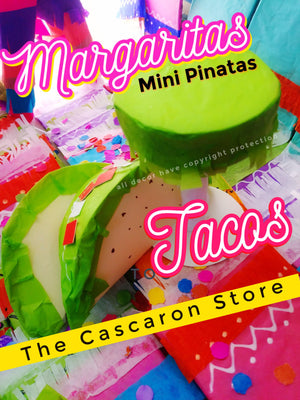 TACOS Mini Pinatas Fiesta Decorations TACOS Mini Pinatas Fiesta Decorations - Fiesta Arts DesignsMini Pinata