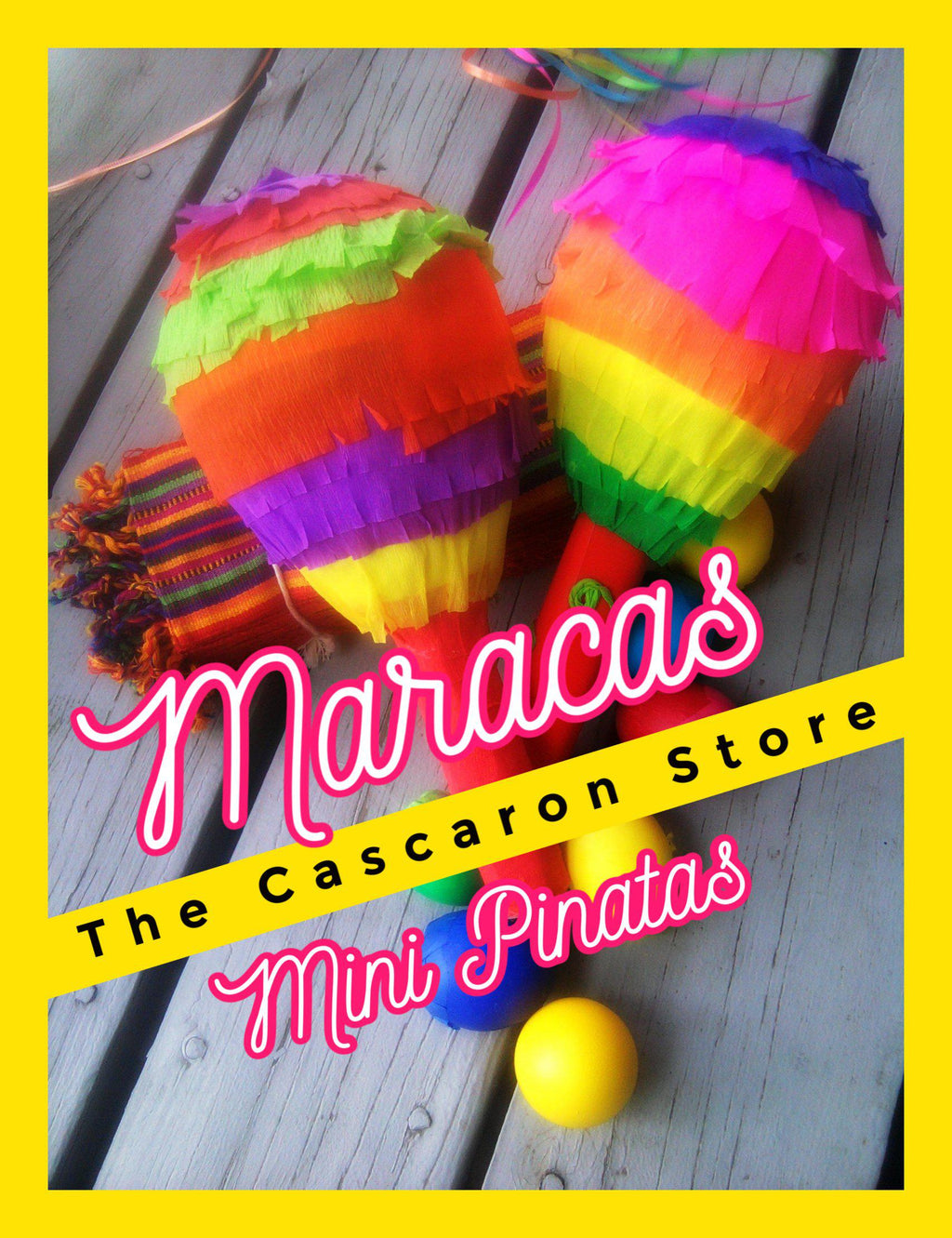Maracas Mini Pinata Fiesta Party Decorationw Maracas Mini Pinata Fiesta Party Decorationw - Fiesta Arts DesignsMini Pinata