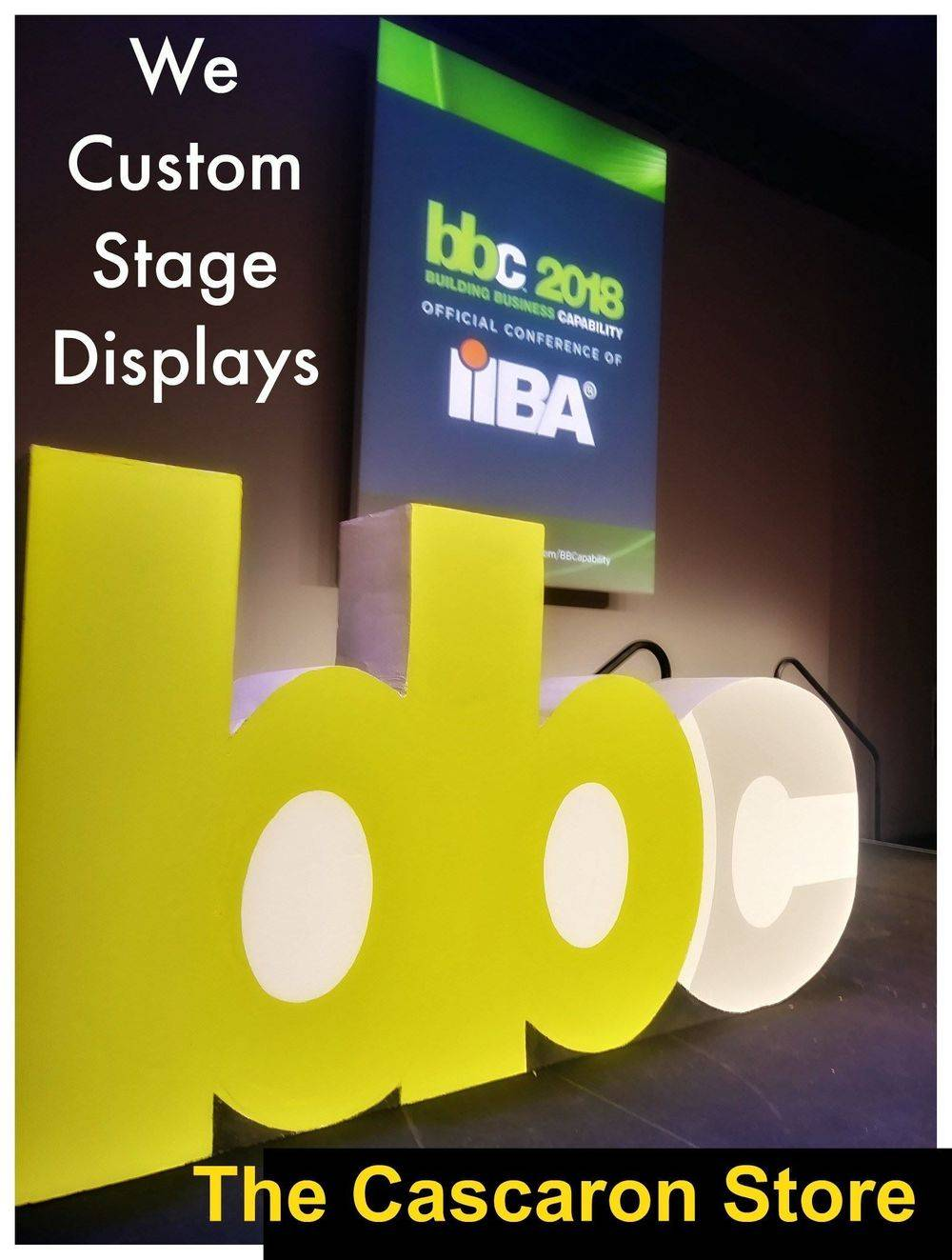 convention stage custom display props & decorations