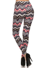 Load image into Gallery viewer, Chevron Print Legging