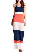 Load image into Gallery viewer, Color Block Maxi Dress