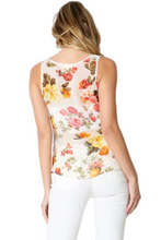 Load image into Gallery viewer, Floral Button Down Tank