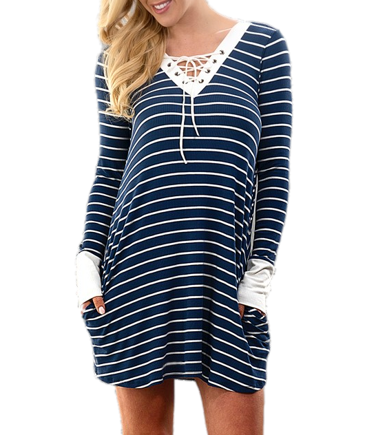 Chelsea Lace Up Dress