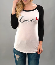 Load image into Gallery viewer, Fall in Love Baseball Tee