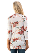 Load image into Gallery viewer, Floral Print Choker Neck Top