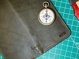 Mens Leather Long Wallet