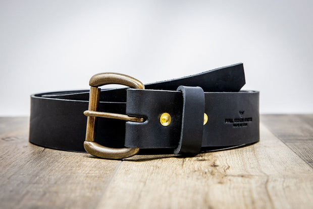 Men's Leather Belt - Black