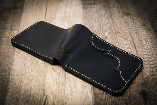 Mens Black Western Wallet