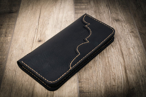 Black Western Long Wallet