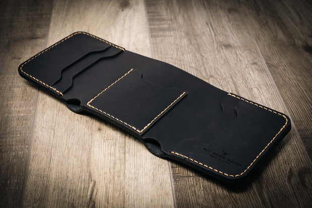 Western Trifold Wallet in black