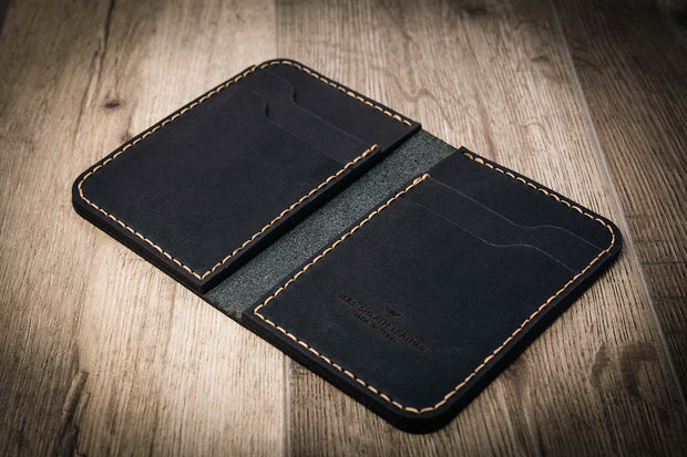 Black Western Vertical Wallet