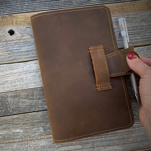 Leather Journal Cover, Sketchbook Cover Notebook
