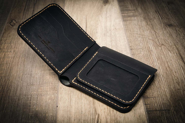 Black Bifold Badge Wallet