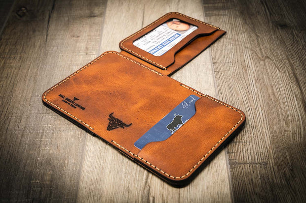 Badge Wallet Mini Max - Police Law Enforcement Wallet - Chestnut