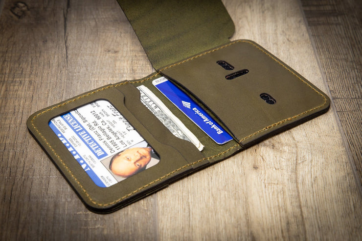 Badge Wallet Mini Max - Police Law Enforcement Wallet - Olive