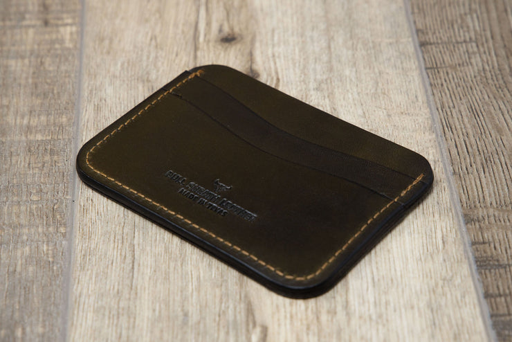 Slim wallet business card holder