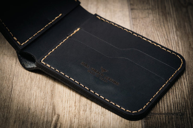 Made in the USA Black Leather Wallet