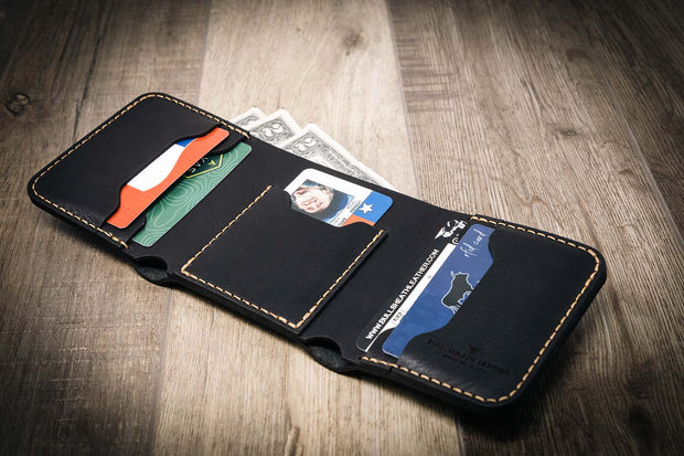 Mens western wallet in black