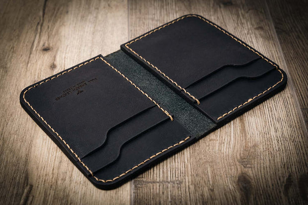 Handmade Leather Black Wallet