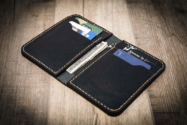 Custom Leather Wallet Black