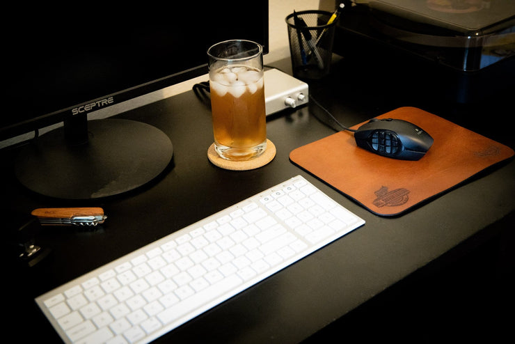 Custom Mouse Pad - Leather Personalized Mouse Pads