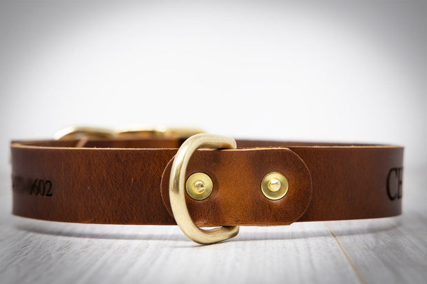Leather Dog Collars - Personalized Leather Dog Collar