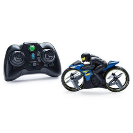 Air Hogs Flight Rider 2-in-1 Remote Control Stunt Motorcycle for Ground and Air