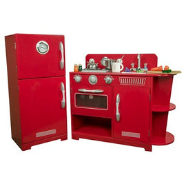 Teamson Kids Classic Play Kitchen - Red (2pc)