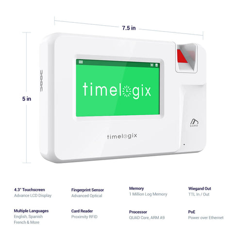 Timelogix TL200 Fingerprint Time Clock