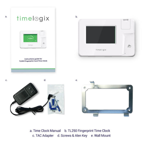 Timelogix TL250 Advanced Fingerprint Time Clock