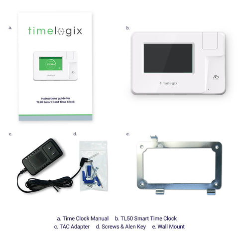 Timelogix TL50 Smart Card MIFARE Time Clock