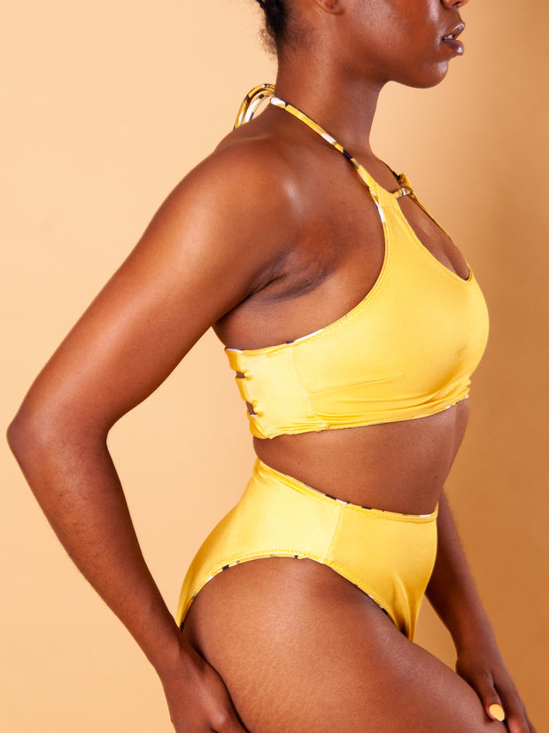 Reversible Halter Top - Canary