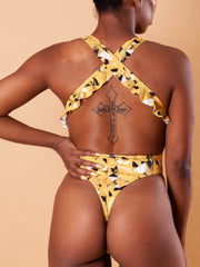 Ruffle Thong One Piece - Canary