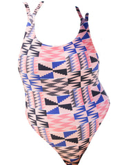 Double Crossed One Piece - Pink Kente