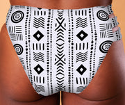 Reversible Bottoms - White Mudcloth