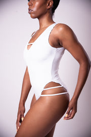 Reversible One Piece - White Mudcloth