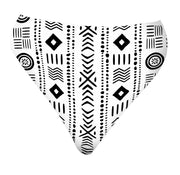 High Waisted Cheeky Bikini Bottoms - White Mudcloth