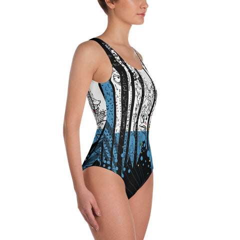 Black Mountains - One-Piece Swimsuit