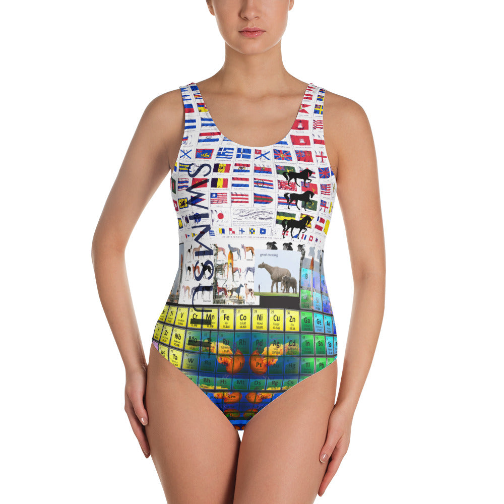 Sea Life Shuttle Swimsuit - One-Piece Swimsuit