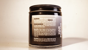 BLACK CASTOR HAIR POMADE w/ TEA TREE