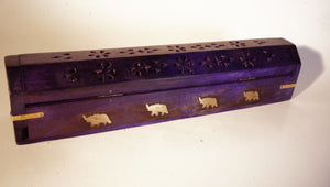 PURPLE WOODEN INCENSE HOLDER