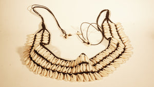 Three-Row Cowrie Shell Belt