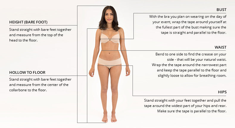 Measurement Guide For All Dresses | BallGownBridal