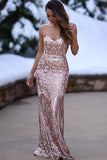 Mermaid Sweetheart Floor-Length Blush Stretch Satin Prom Dress with Appliques AHC684 | ballgownbridal