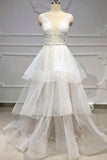 White Wedding Party Dresses Bateau Appliques Online for Women PDA162 | ballgownbridal