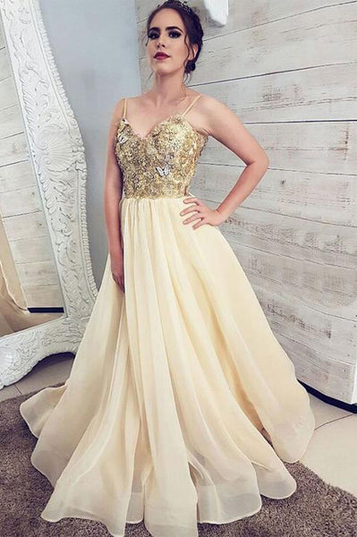 Sweetheart Neck Champagne Tulle Strapless Long Lace Prom Dress PDA504 | ballgownbridal
