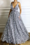 Chic Prom Dresses Straps A line Lace Prom Dress Beautiful Evening Dress PDA573